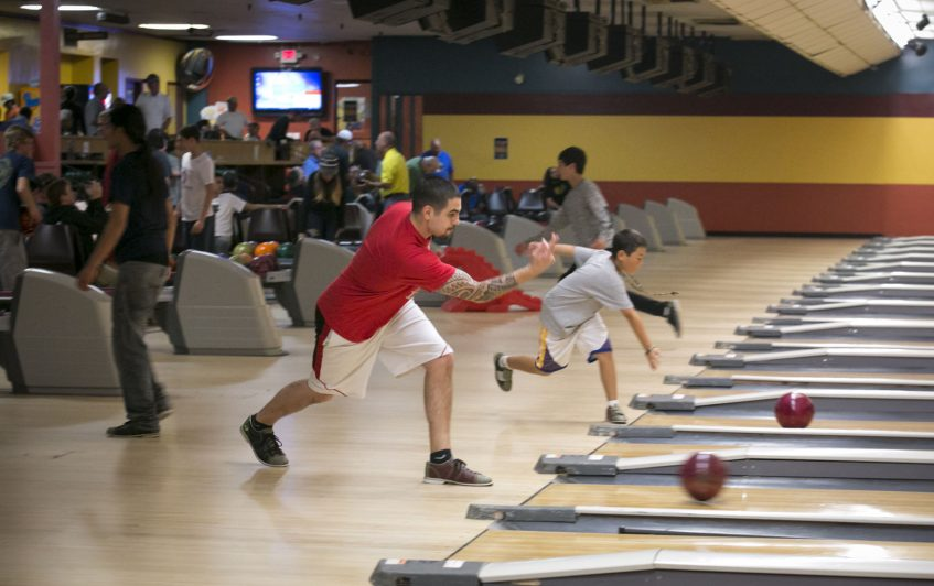 Bowling Strokes for All Ages at Valley Center Bowl